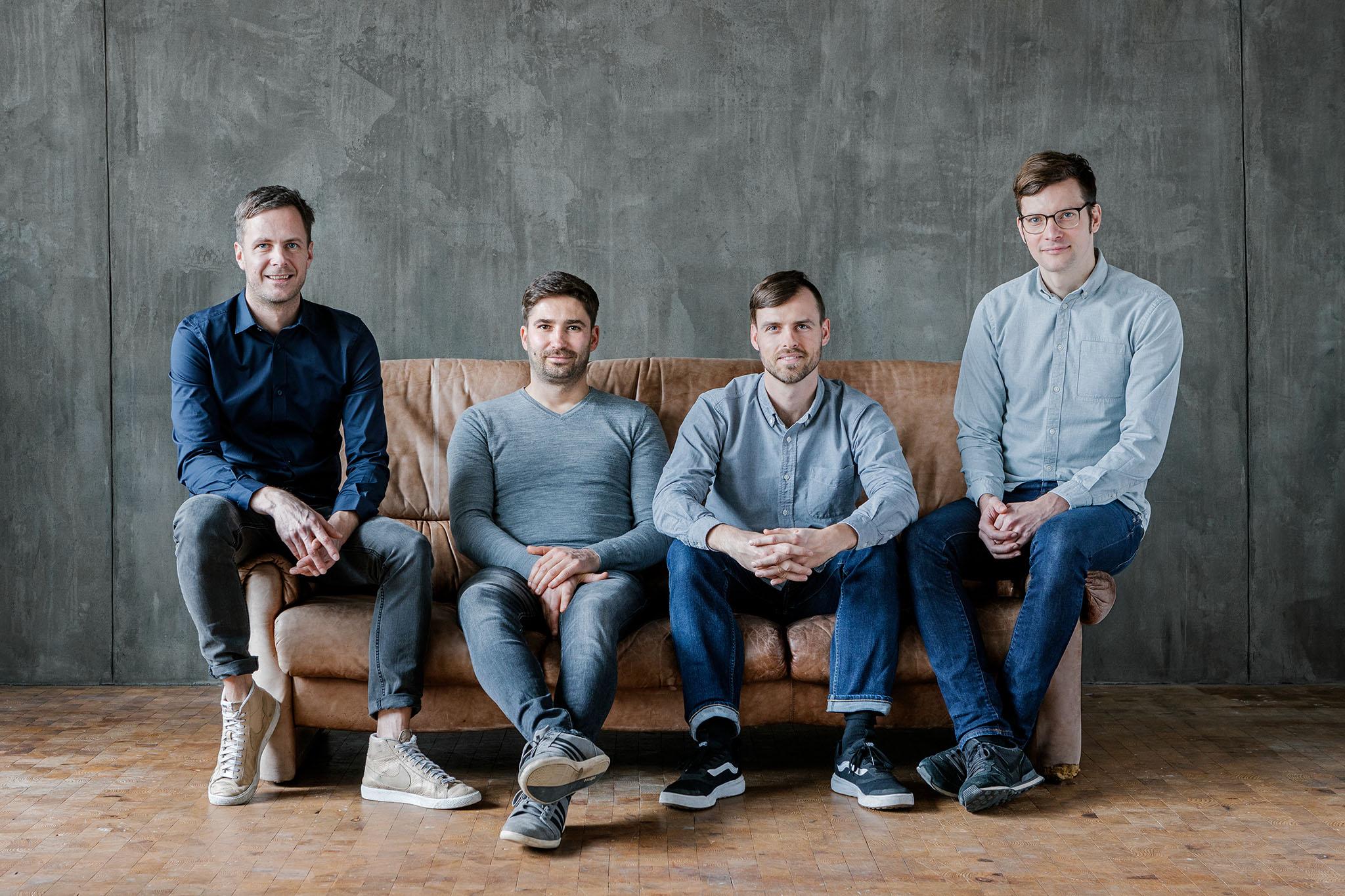 v.l.n.r.: Stephan Zehren, Manuel Holstein, Jörg Schindelhauer, Martin Schellhase