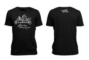 T-Shirt – life is like riding a bicycle Men